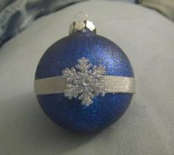 Merrisa Snowflake Glitter Ornament