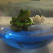 Frog Lily Pad Ornament