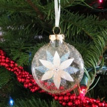 Glennis Poinsettia Ornament