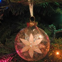 Glennis White Poinsettia Ornament