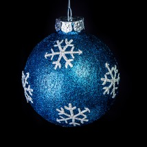 Midnight Snowflake Ornament