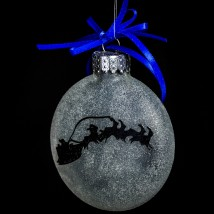 Santa Across the Moon Ornament