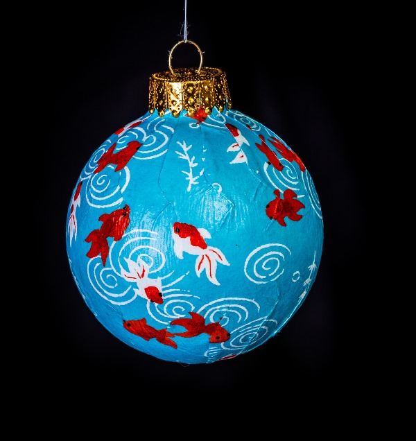 Koi japanese washi paper ornament eb ornaments for Koi fish ornament