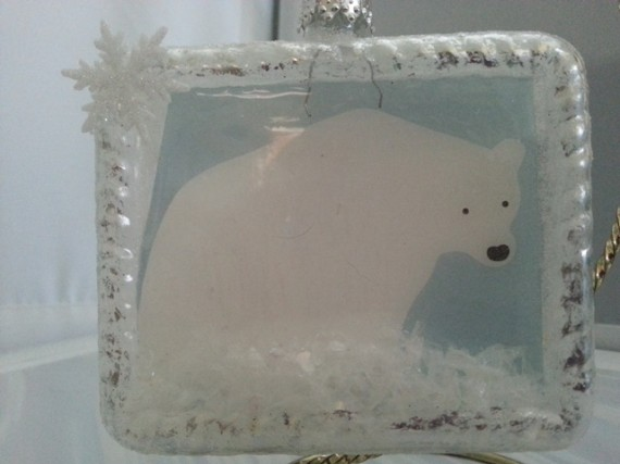 Polar Bear Frame Ornament